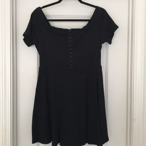 Black OTS Skater Dress